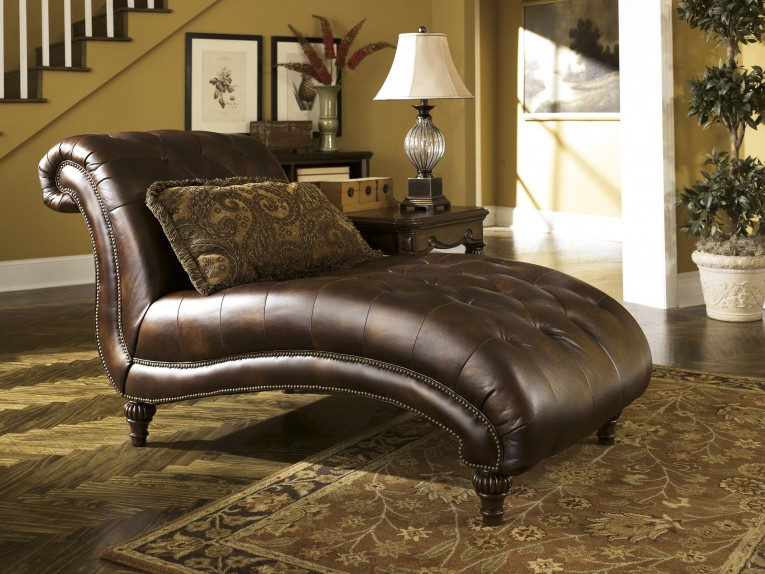 Beautiful Leather Chaise With Beautiful Colors And Laminate Flooring Also Unique Interior Display For Living Room Furniture Ideas