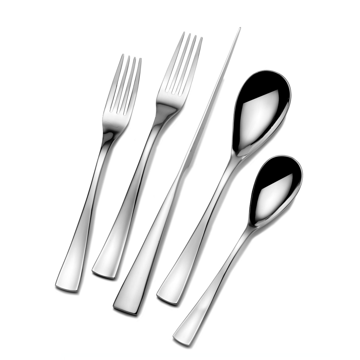 Beautiful towle flatware 5 piece stainless steel flatware set for serveware ideas