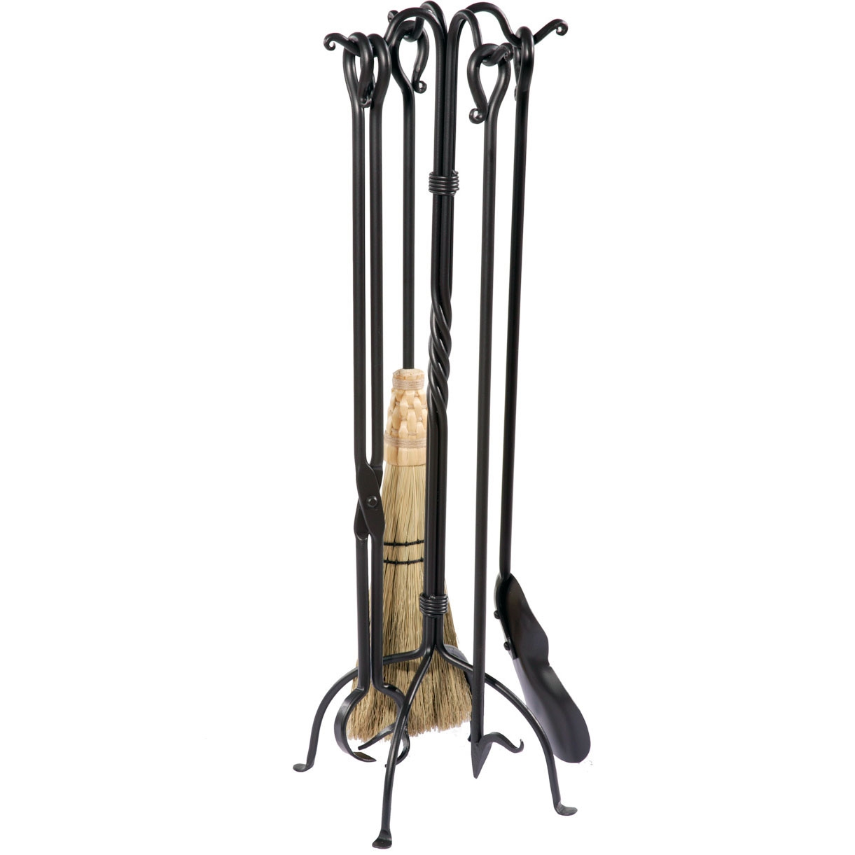 Beautiful wrought iron fireplace tools pine firelace tool for your home interior tool improvements