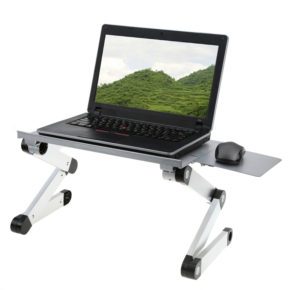 Best laptop desk stand with aluminium feet with roll for work space or office furniture Ideas