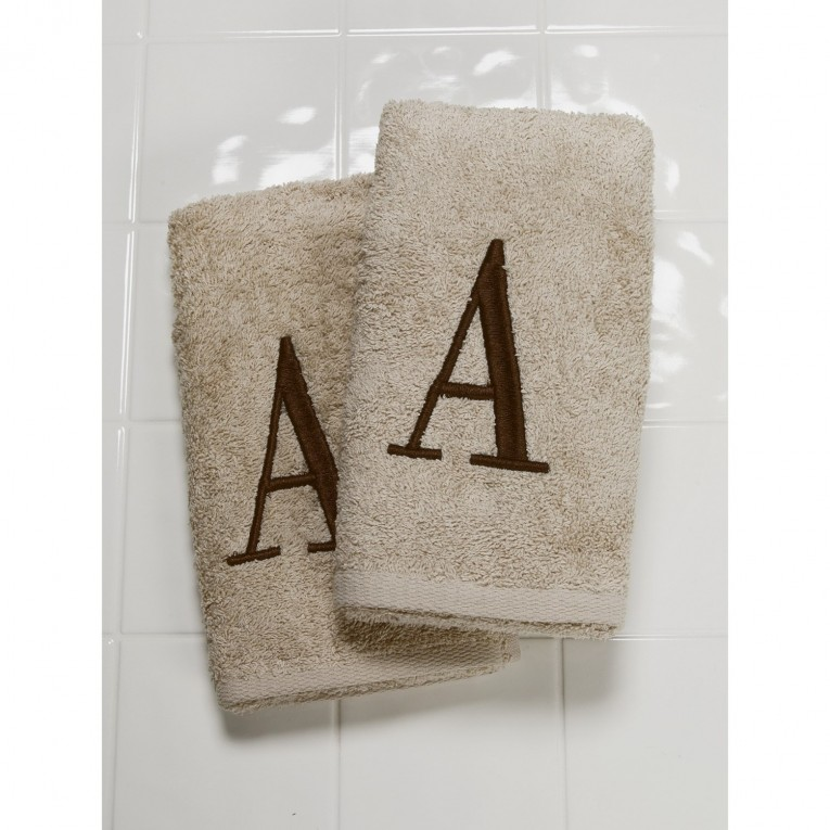 Best Monogrammed Hand Towels With Decorative Logo Pattern Towel For Bathing Ideas