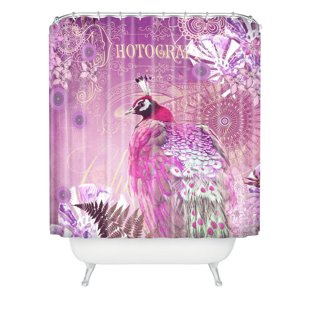 Best peacock shower curtain featuring beautiful color peacock shower curtain and sidetable with rollers for your beautiful modern bathroom shower ideas