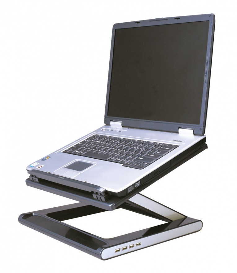 Breathtaking Modern Laptop Desk Stand With Aluminium Feet With Roll For Work Space Or Office Furniture Ideas