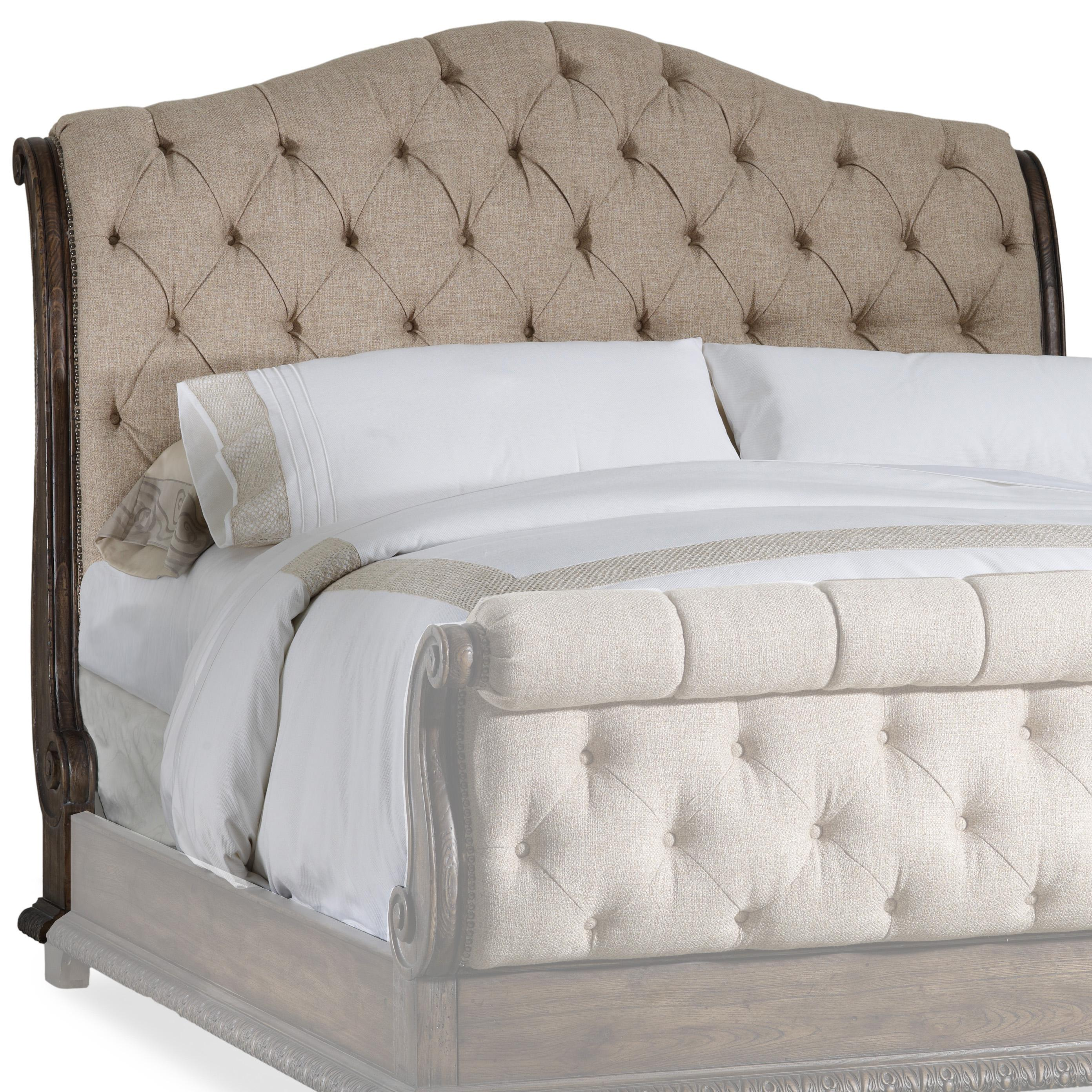 Breathtaking quilted headboard with pillows and queen bed size platform decorating combined with night lamp and sidetable