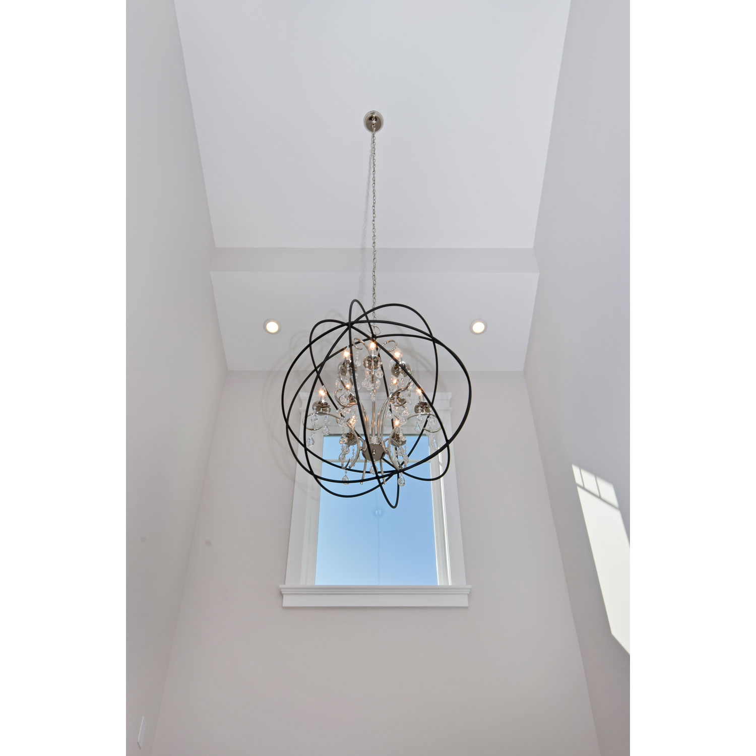 Breathtaking unique design of orbit chandelier with iron or stainless for ceiling lighting decorating ideas