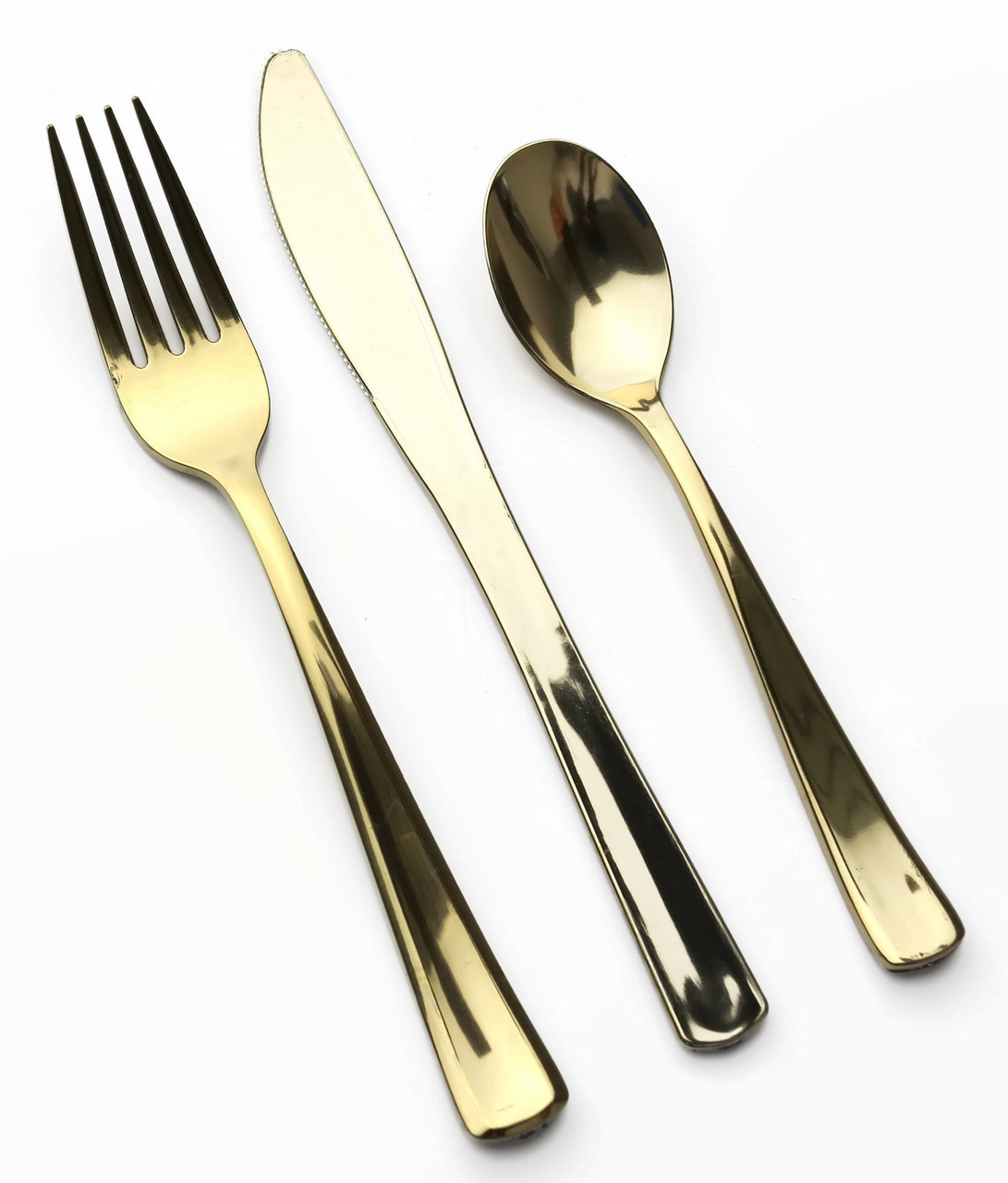 Brilliant gold plastic silverware with glitters gold plastic silverware for serverware ideas