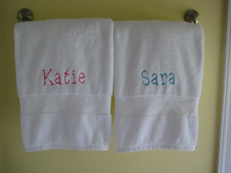 Brilliant Monogrammed Bath Towels With Personalized Towel Of Monogrammed Towel Set Ideas