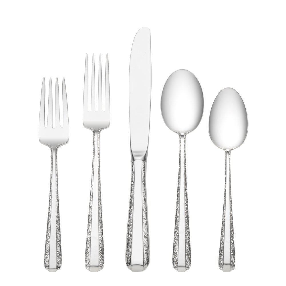 Brilliant towle flatware 5 piece stainless steel flatware set for serveware ideas