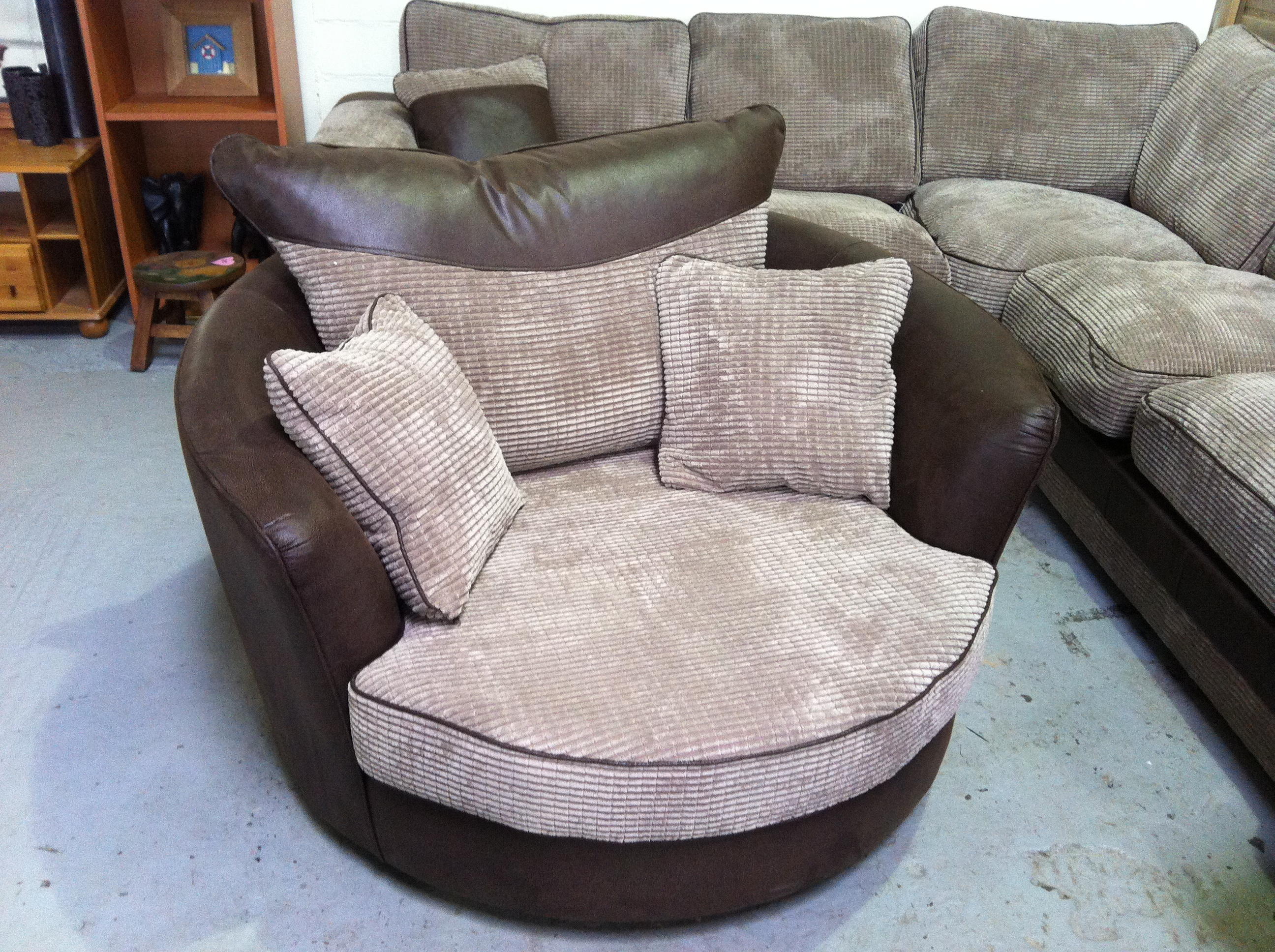Captivating Cannon Swivel cuddle chair with cushion and for your Beautiful Living Room Ideas