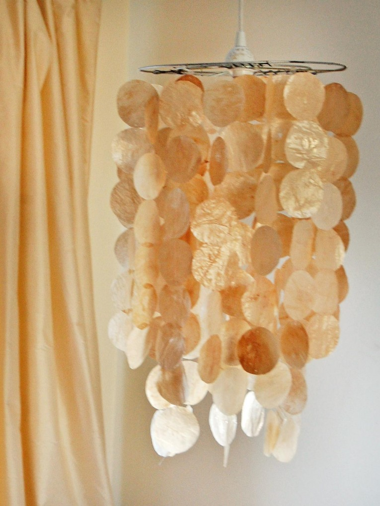 Captivating Capiz Shells Wall Mirror Gold With Light Capiz Shells For Your Home Lighting Ideas