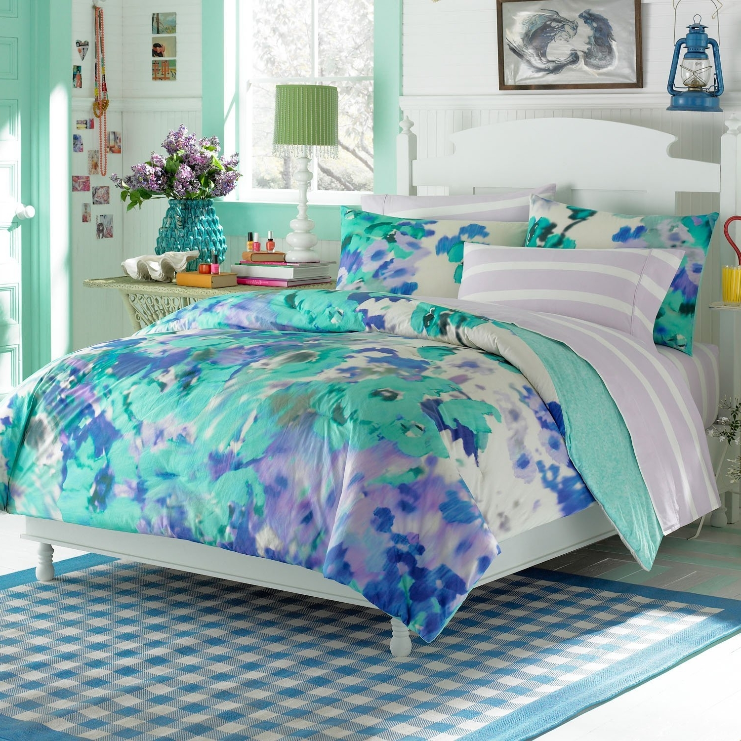 Marvelous Ideas Of Teenage Bedroom Comforters New Home Furniture throughout Aqua Teens Room - Design Decor