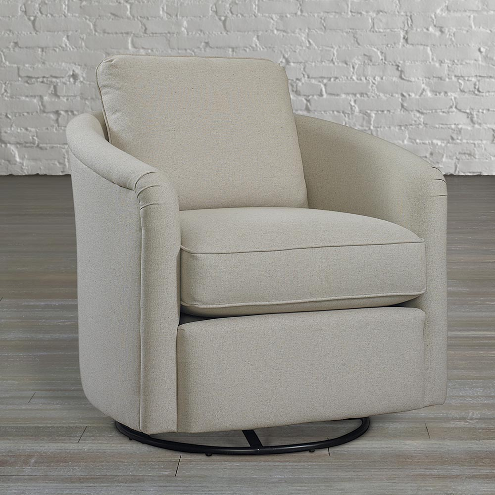 Captivating fabric upholstered glider rocker with armchairs and wooden laminate floor for living room
