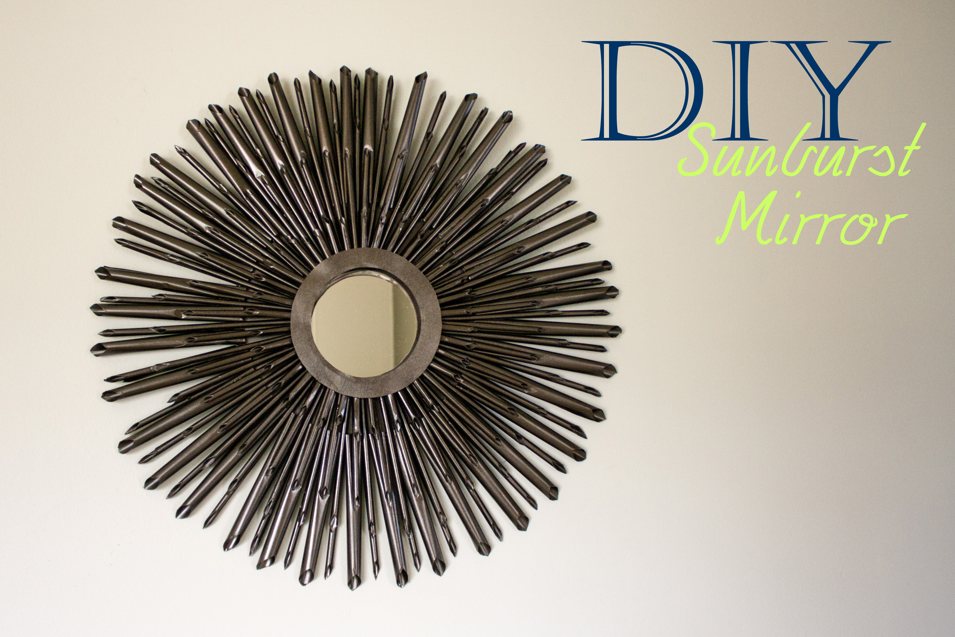 Captivating sunburst mirrors with rustic table and night lap combined plus luxury wall