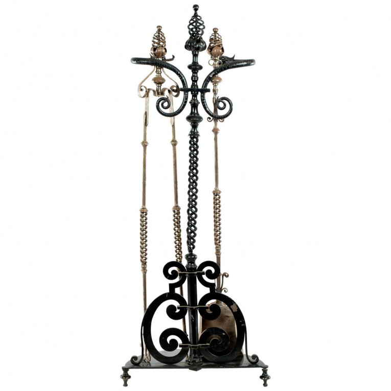 Captivating Wrought Iron Fireplace Tools Pine Firelace Tool For Your Home Interior Tool Improvements