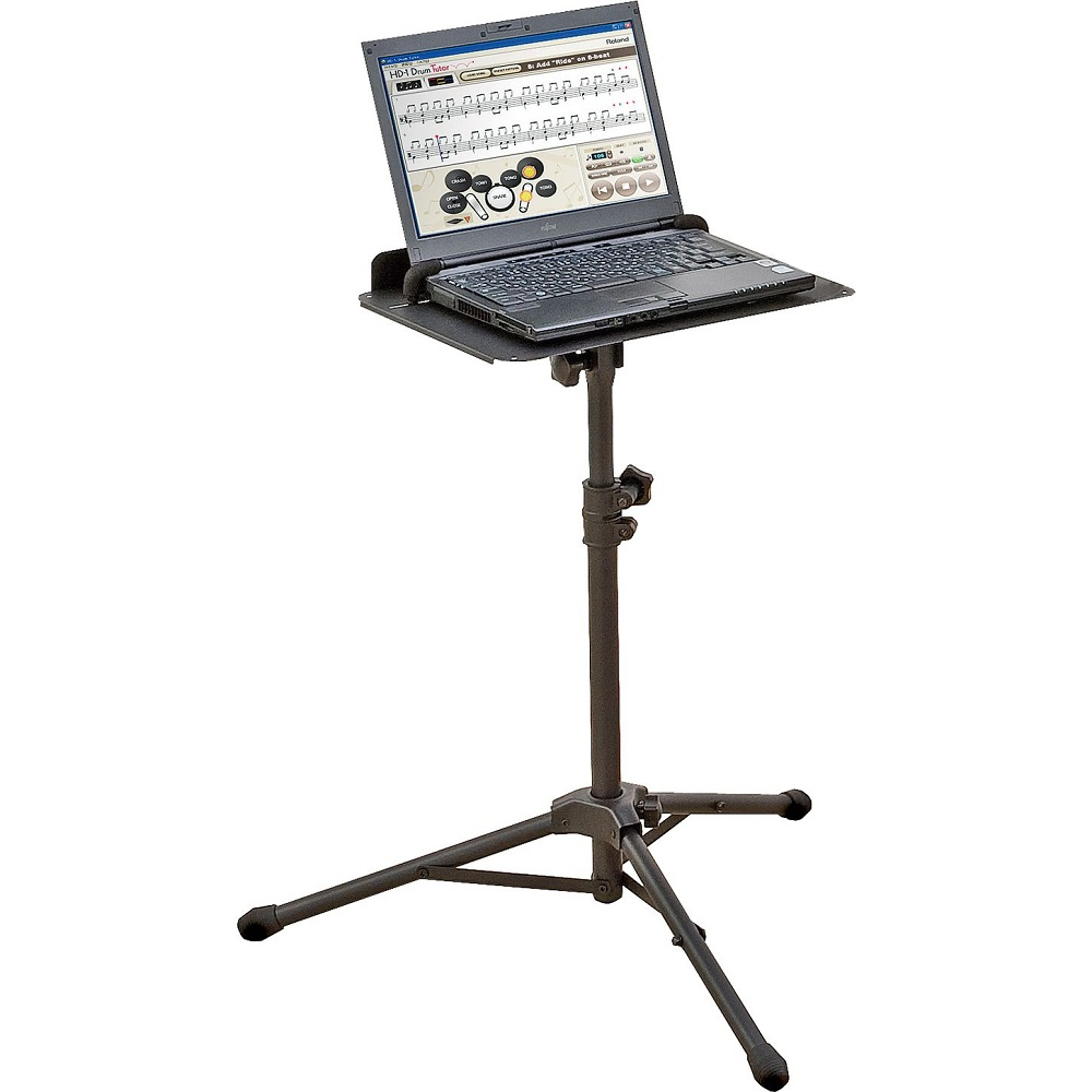 Charming laptop desk stand with aluminium feet with roll for work space or office furniture Ideas