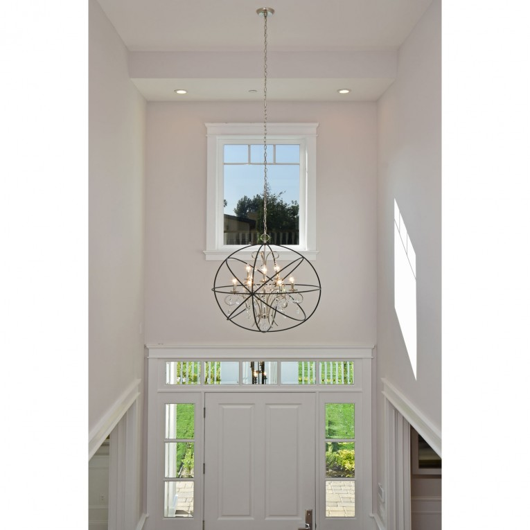 Charming Unique Design Of Orbit Chandelier With Iron Or Stainless For Ceiling Lighting Decorating Ideas