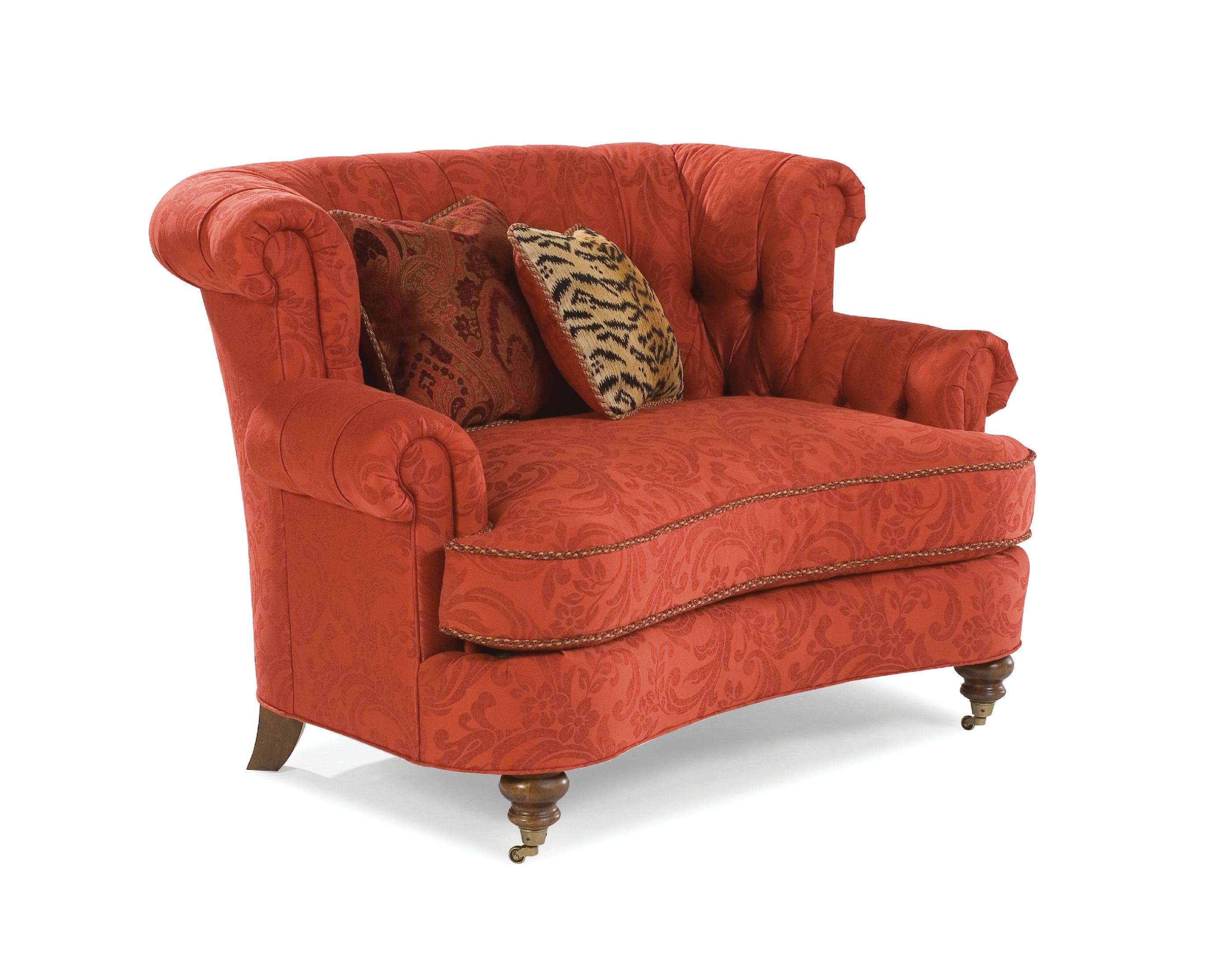 Chic Cannon Swivel cuddle chair with cushion and for your Beautiful Living Room Ideas