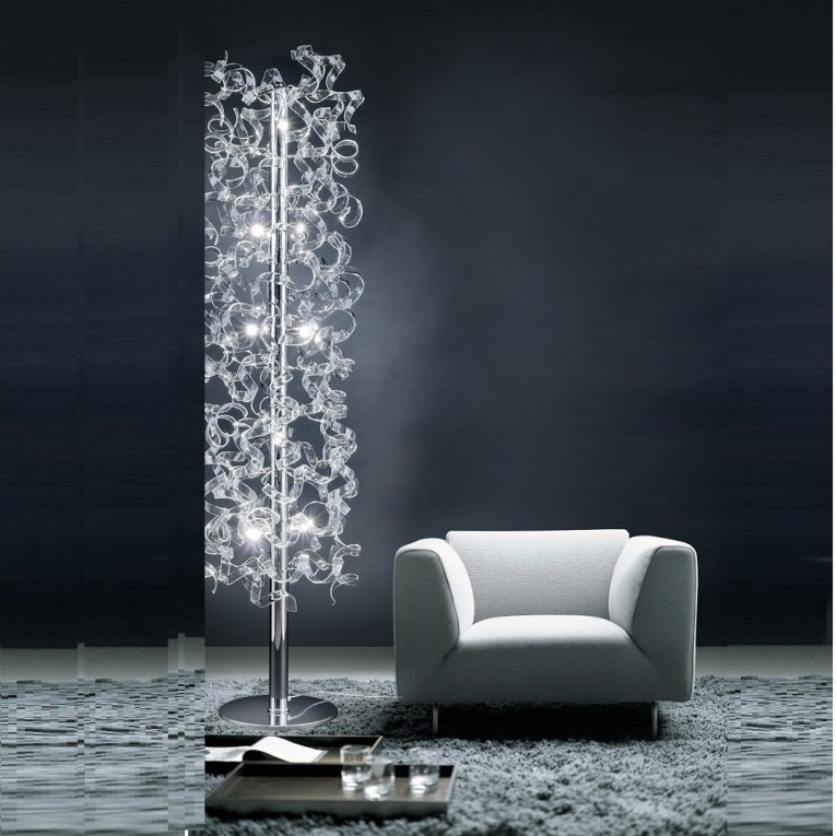 Chic Crystal Floor Lamp With Unique Design And Good For Your Home Light Ideas
