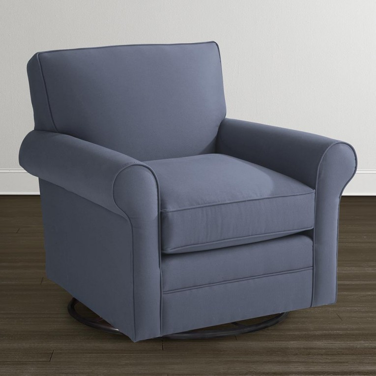 Chic Fabric Upholstered Glider Rocker With Armchairs And Wooden Laminate Floor For Living Room