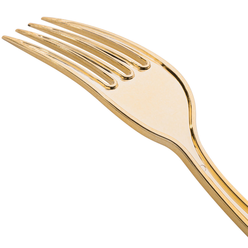Chic gold plastic silverware with glitters gold plastic silverware for serverware ideas