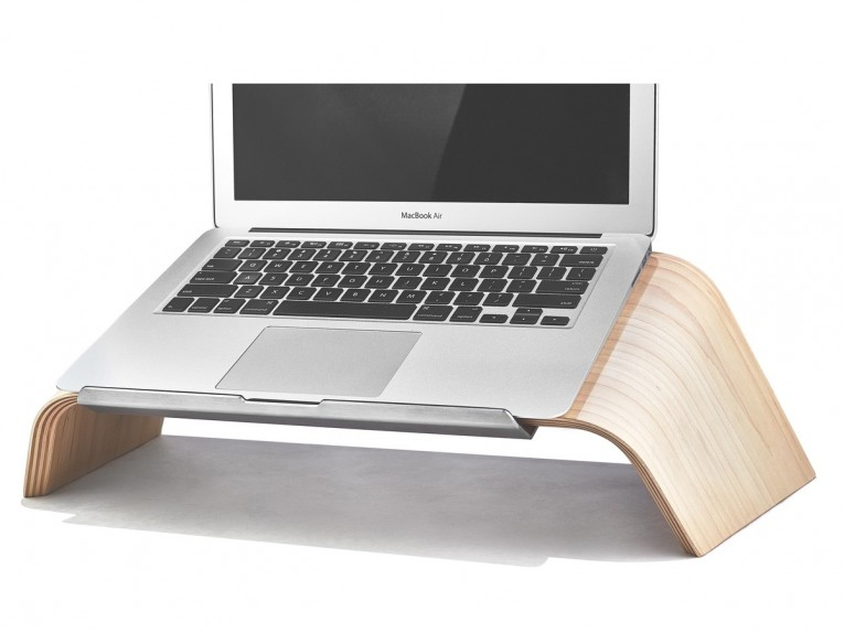 Chic Laptop Desk Stand With Aluminium Feet With Roll For Work Space Or Office Furniture Ideas