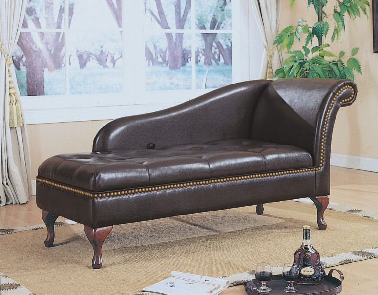 Chic Leather Chaise With Beautiful Colors And Laminate Flooring Also Unique Interior Display For Living Room Furniture Ideas