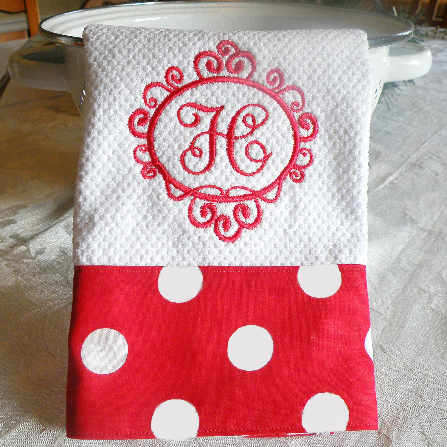 Chic Monogrammed Hand Towels With Decorative Logo Pattern Towel For Bathing Ideas