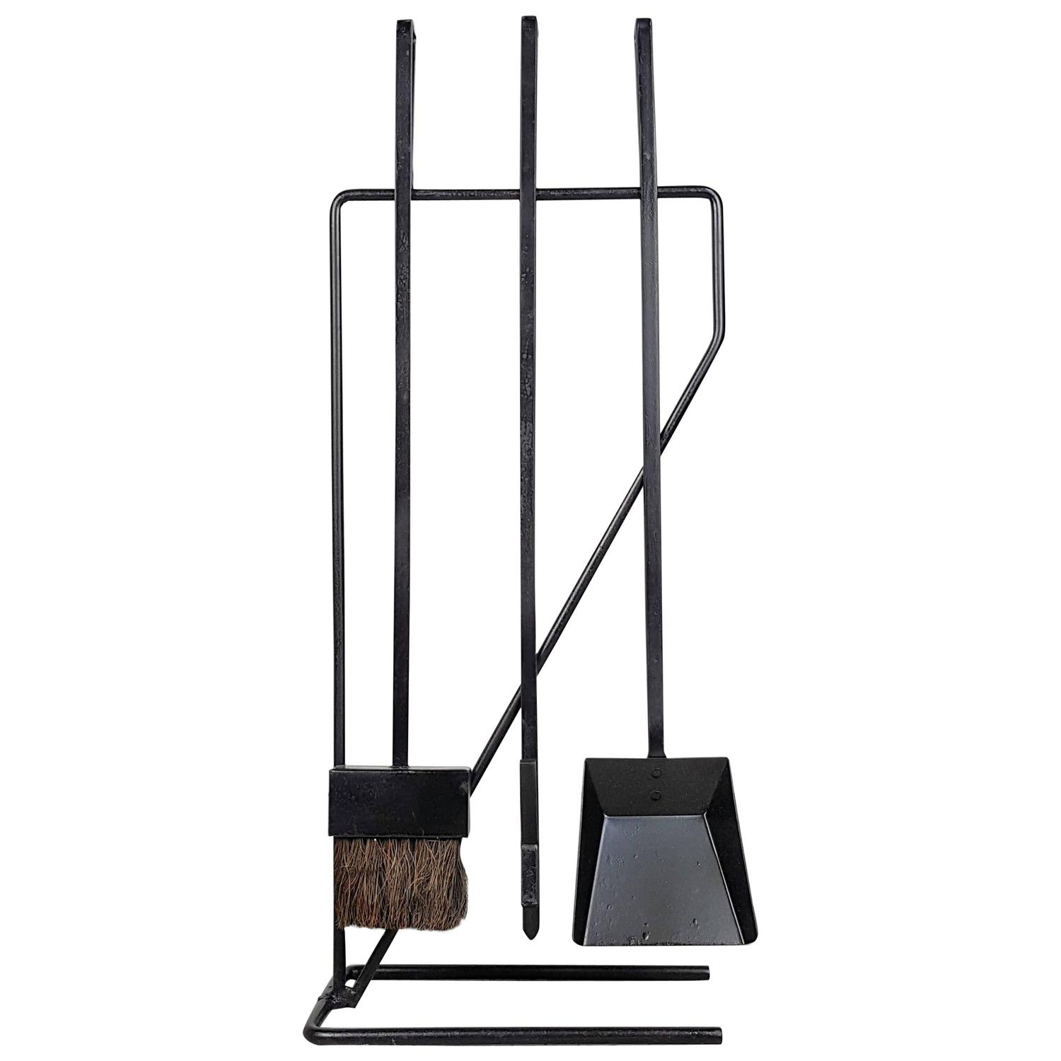 Chic wrought iron fireplace tools pine firelace tool for your home interior tool improvements