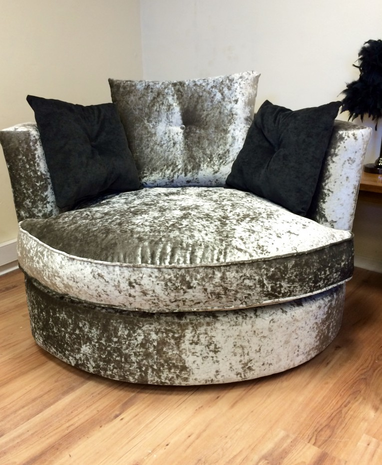 Classy Cannon Swivel Cuddle Chair With Cushion And For Your Beautiful Living Room Ideas