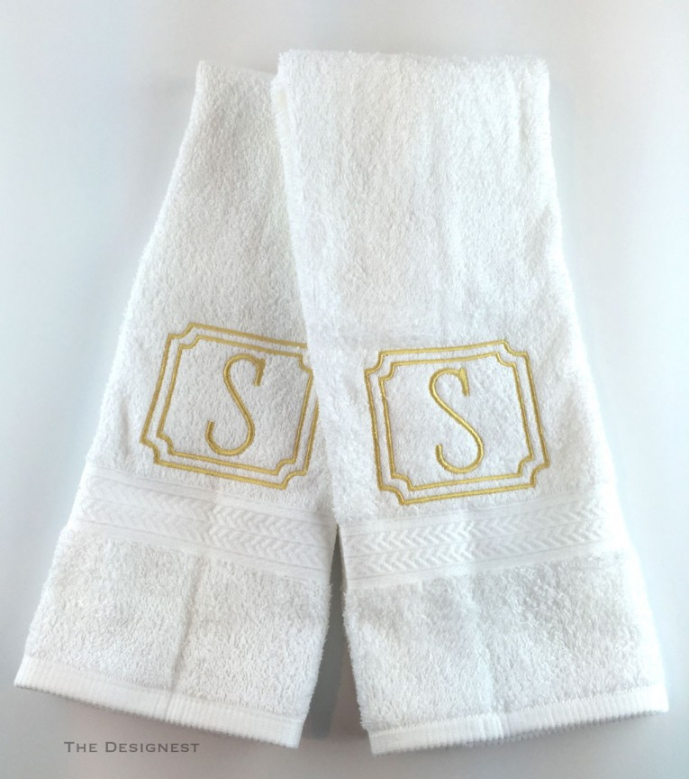 Classy Monogrammed Hand Towels With Decorative Logo Pattern Towel For Bathing Ideas
