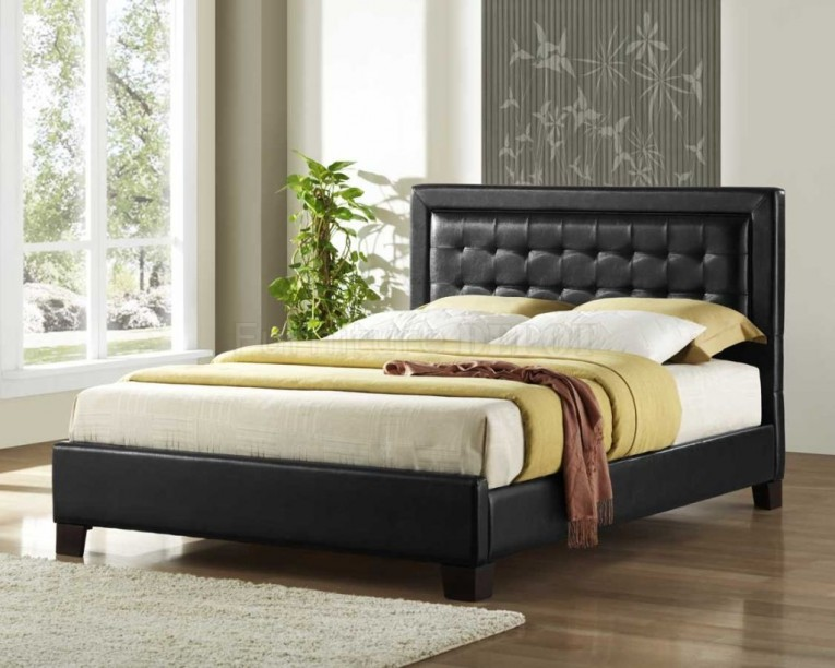 Classy Quilted Headboard With Pillows And Queen Bed Size Platform Decorating Combined With Night Lamp And Sidetable