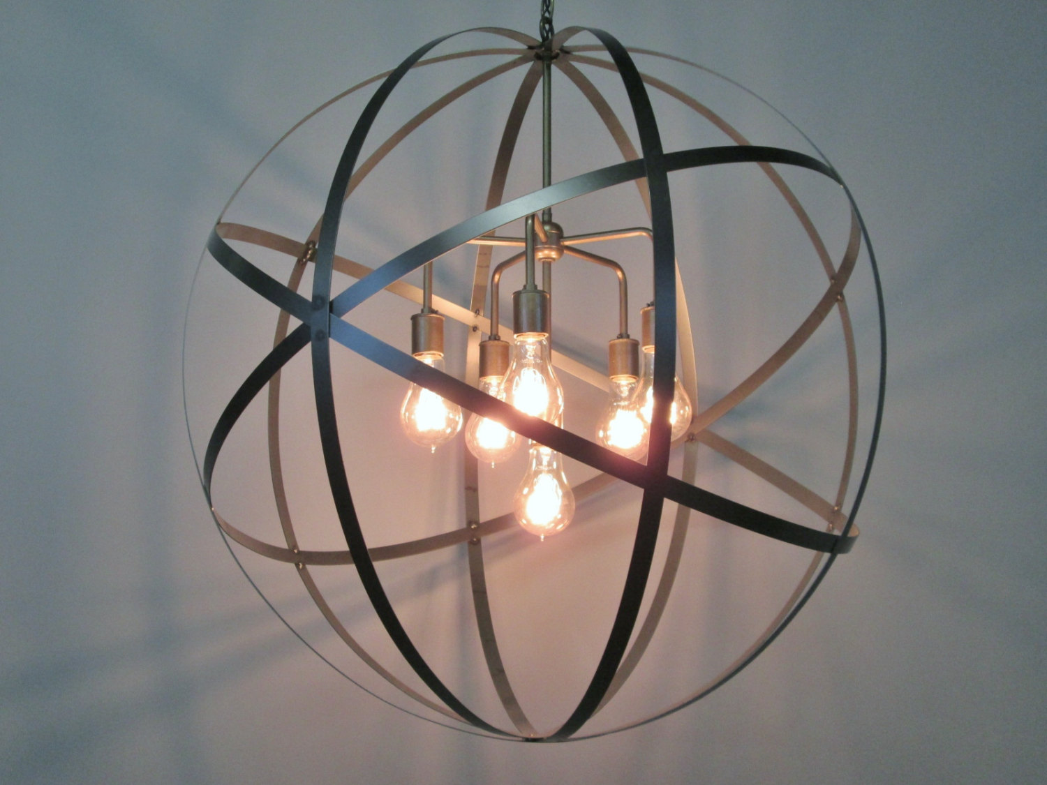 Classy sphere chandelier metal orb chandelier with interesting Cheap Price for your Home Lighting