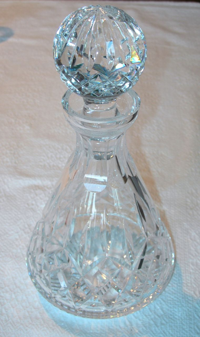 Classy waterford crystal decanter waterford crystal lismore for dining display serveware ideas