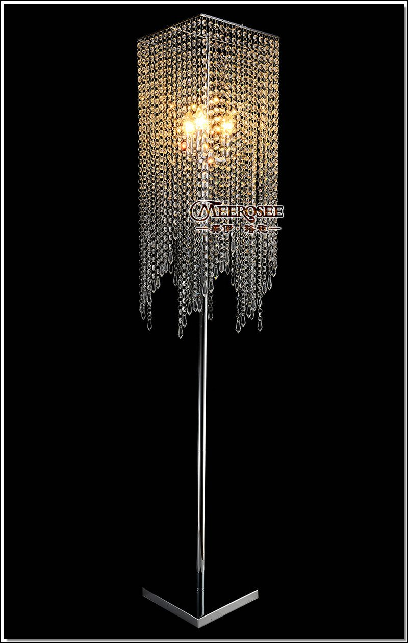 Comfy crystal floor lamp with unique design and good for your home light ideas