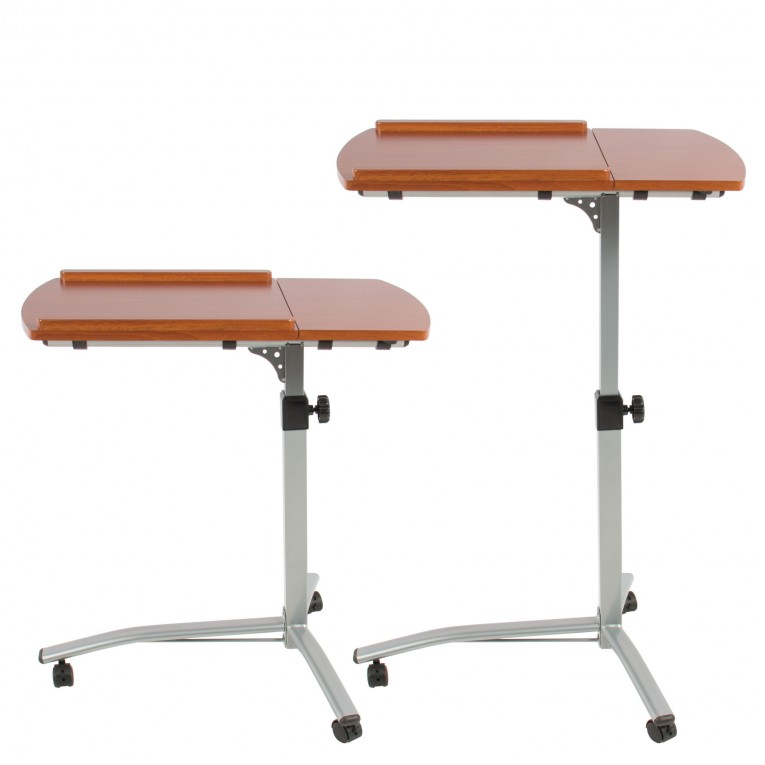 Comfy Laptop Desk Stand With Aluminium Feet With Roll For Work Space Or Office Furniture Ideas