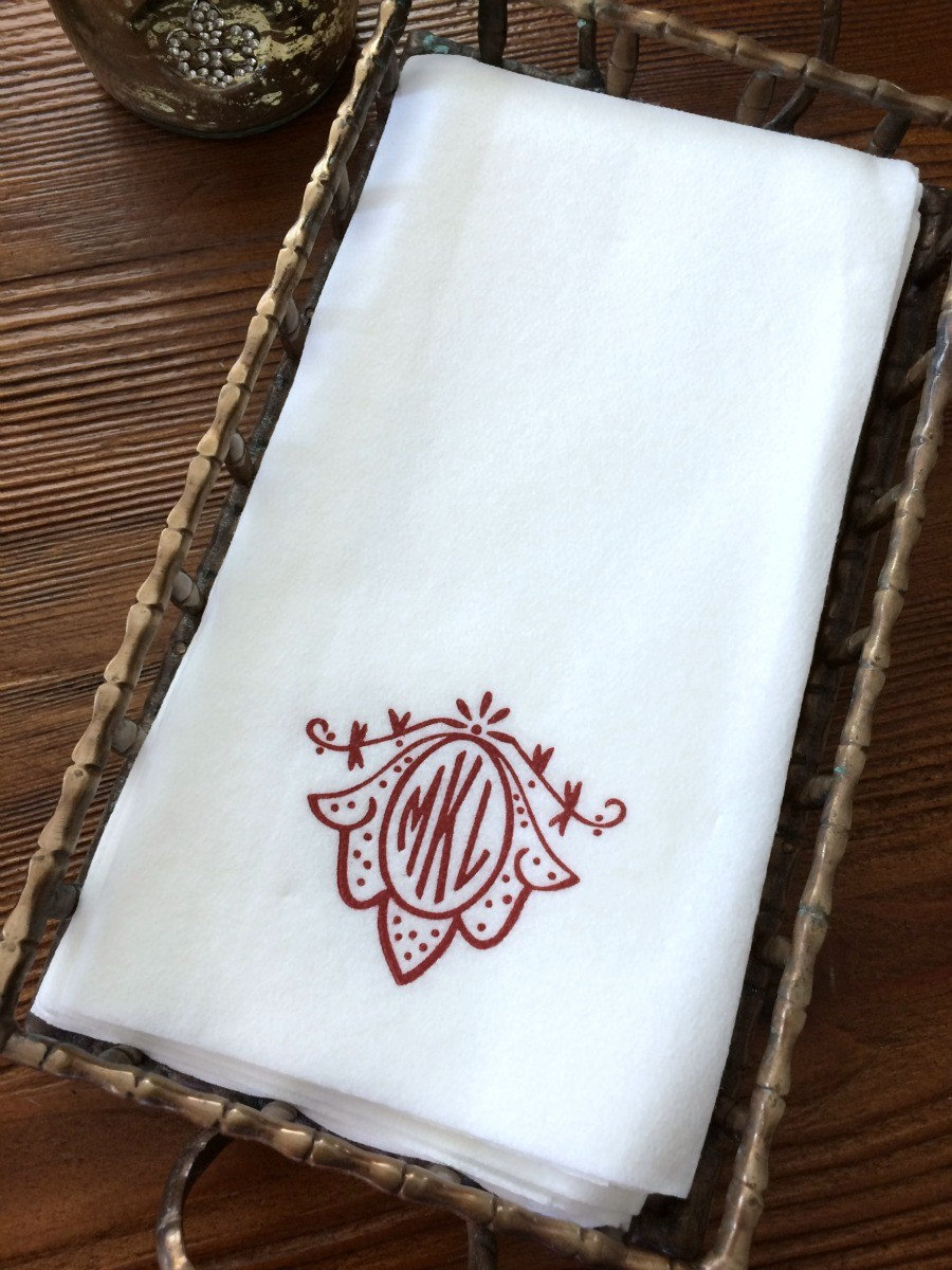 Comfy Monogrammed Hand Towels With Decorative Logo Pattern Towel For  Bathing Ideas