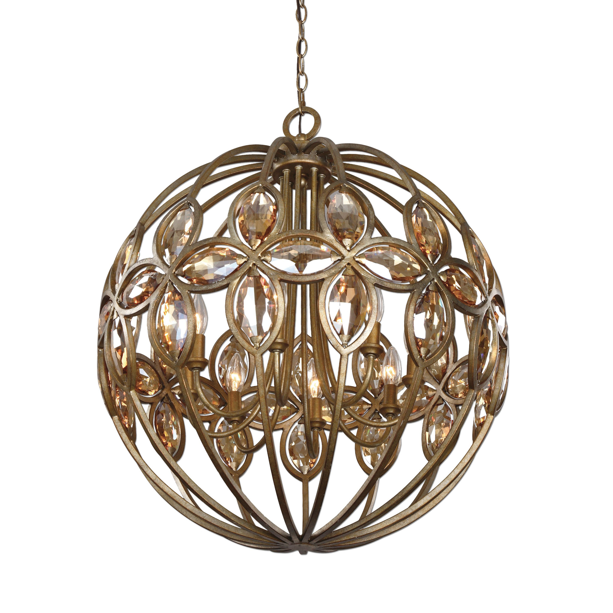 Comfy sphere chandelier metal orb chandelier with interesting Cheap Price for your Home Lighting