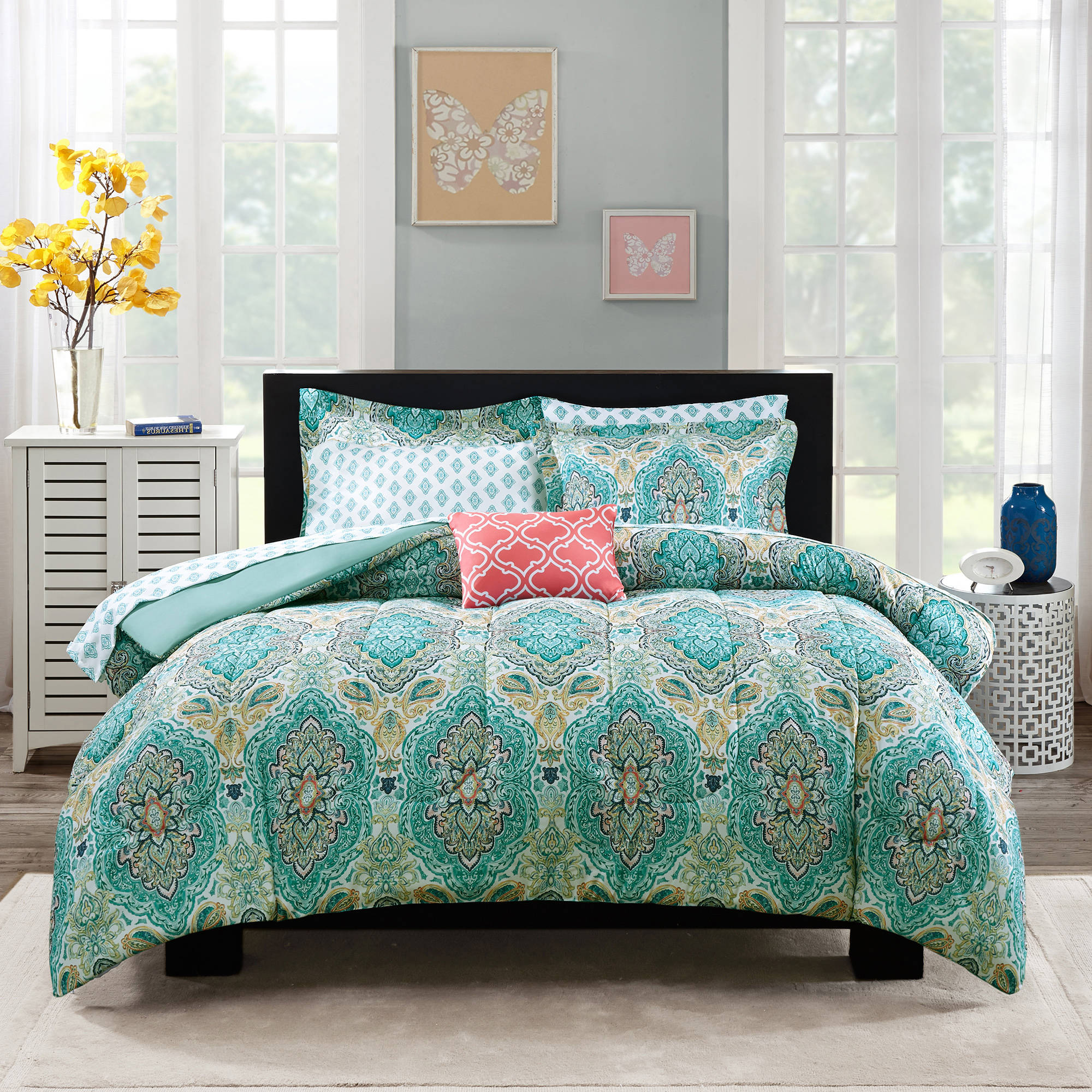 Cool comforters for teens with unique sidetable