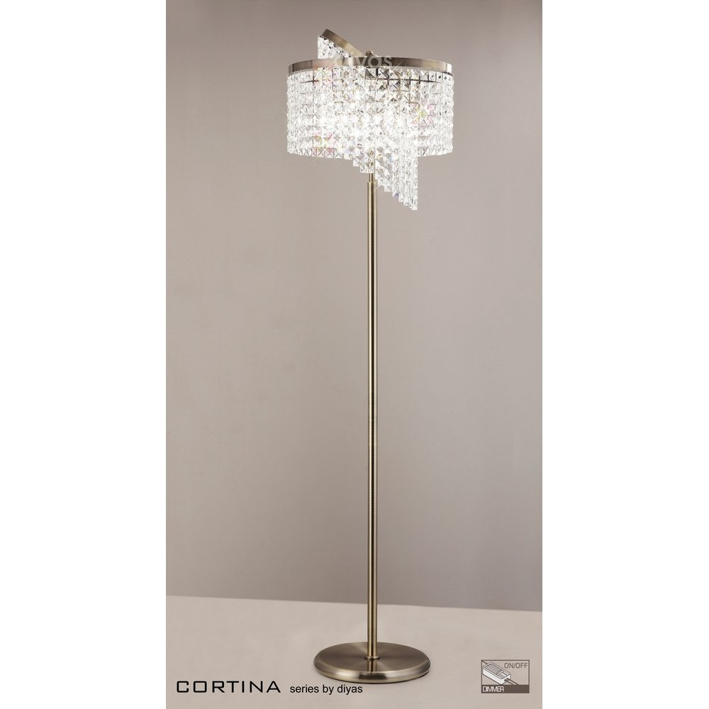 Cool crystal floor lamp with unique design and good for your home light ideas