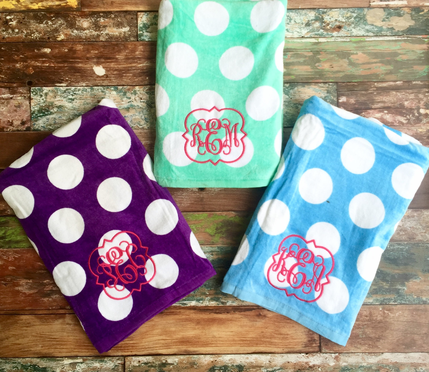 Cozy monogrammed hand towels with Decorative logo pattern towel for bathing Ideas