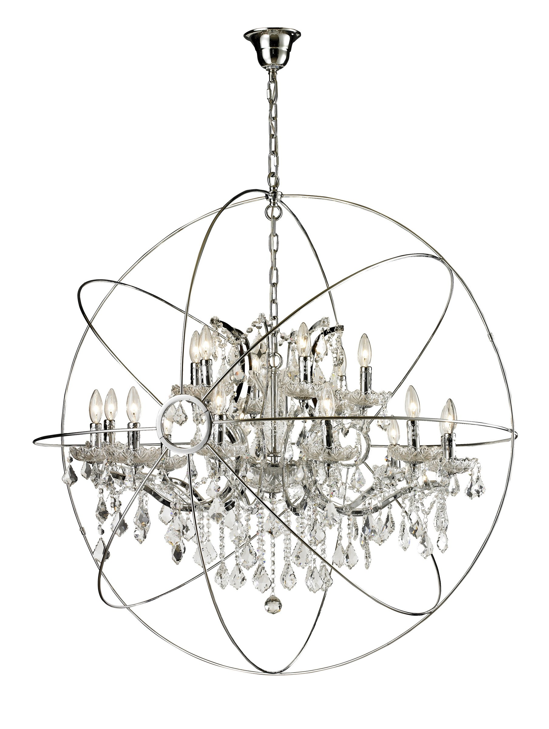 Cozy sphere chandelier metal orb chandelier with interesting Cheap Price for your Home Lighting
