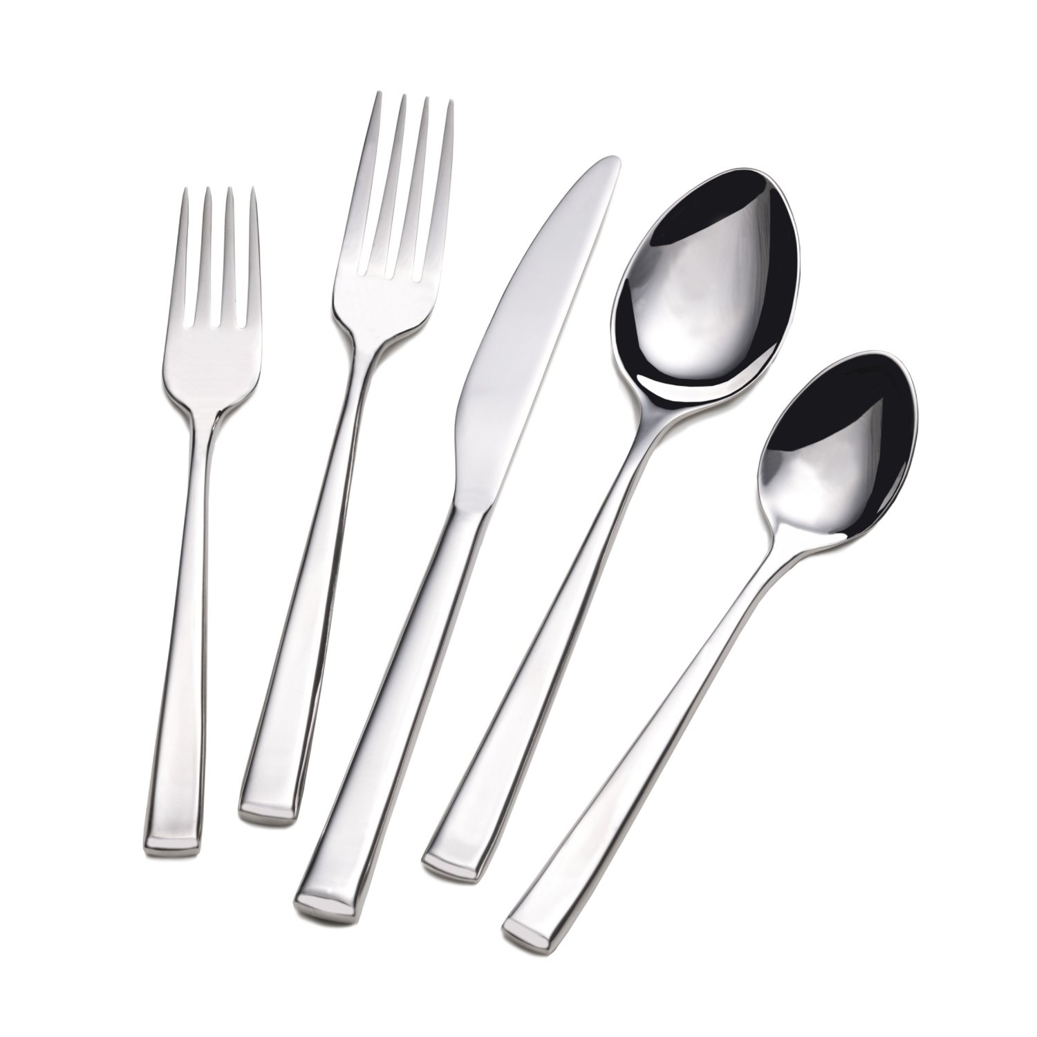 Cozy towle flatware 5 piece stainless steel flatware set for serveware ideas