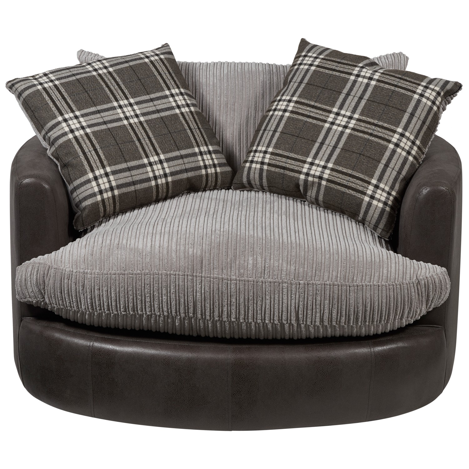 Creative Cannon Swivel cuddle chair with cushion and for your Beautiful Living Room Ideas