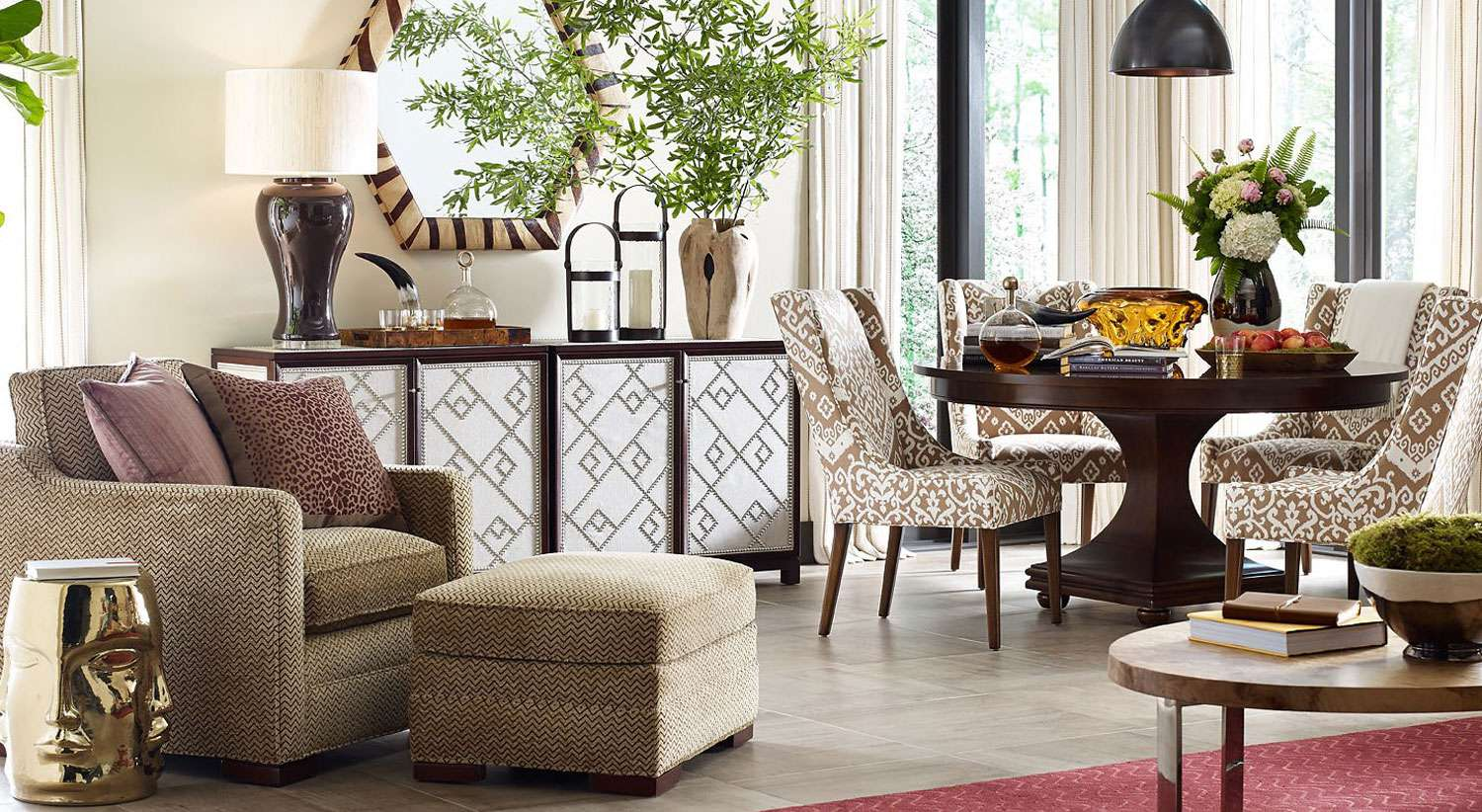 Creative barclay butera with unique pattern interior for living room combined with barclay butera furniture ideas