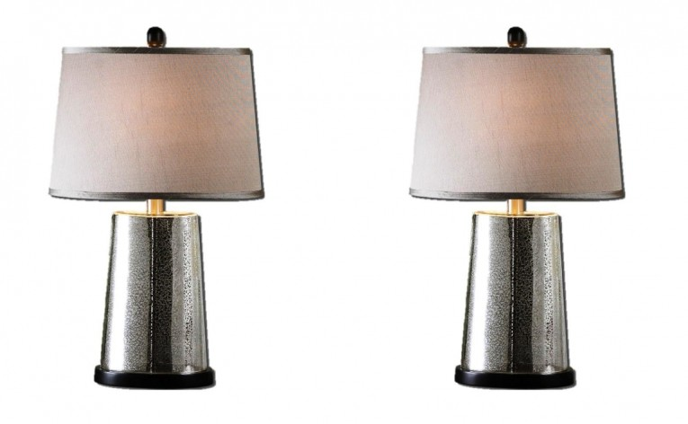Tall Mercury Glass Lamps