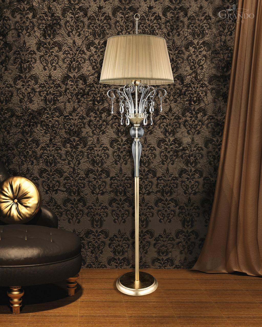 Creative crystal floor lamp with unique design and good for your home light ideas