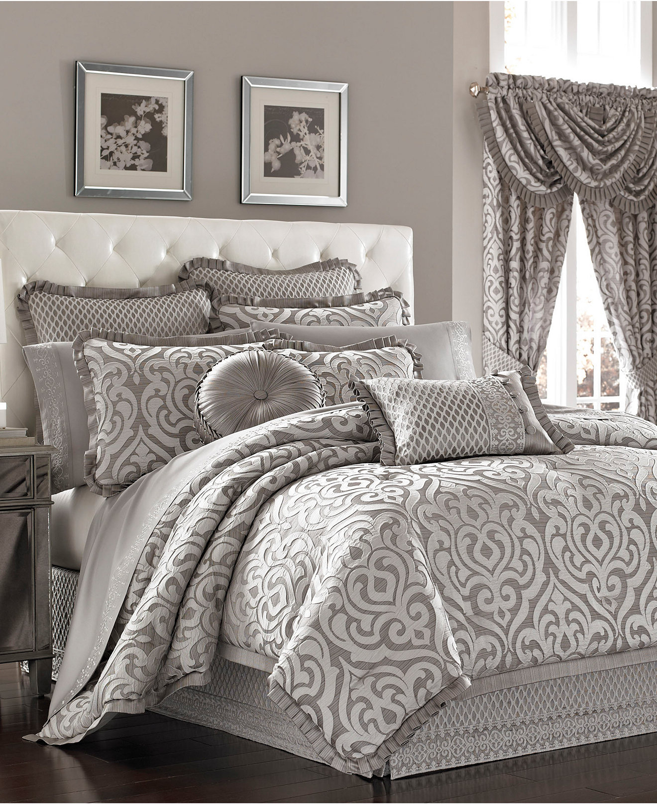 Creative donna karan bedding with Cushion and pillows also beautiful duvet cover and sidetable and luxury wall paint color