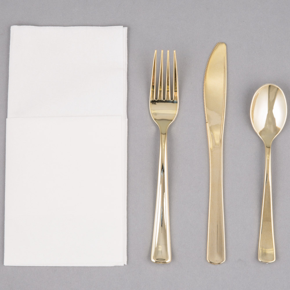 Creative gold plastic silverware with glitters gold plastic silverware for serverware ideas