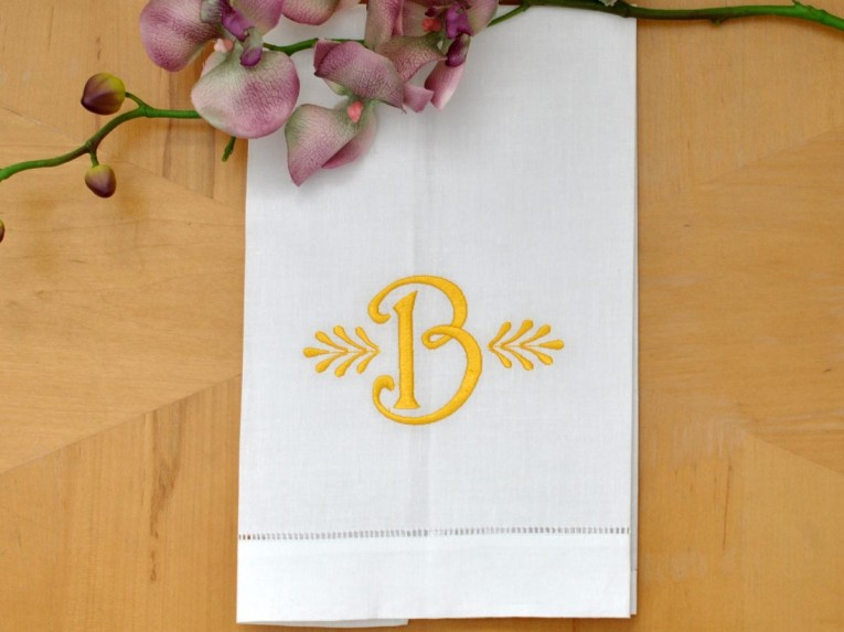 Creative Monogrammed Hand Towels With Decorative Logo Pattern Towel For Bathing Ideas