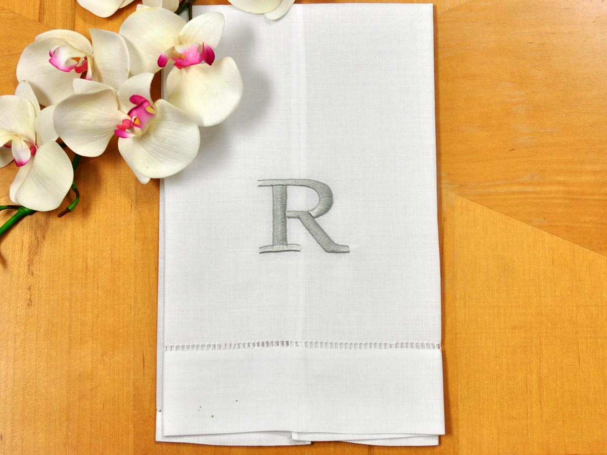 Cute Monogrammed Hand Towels With Decorative Logo Pattern Towel For Bathing Ideas